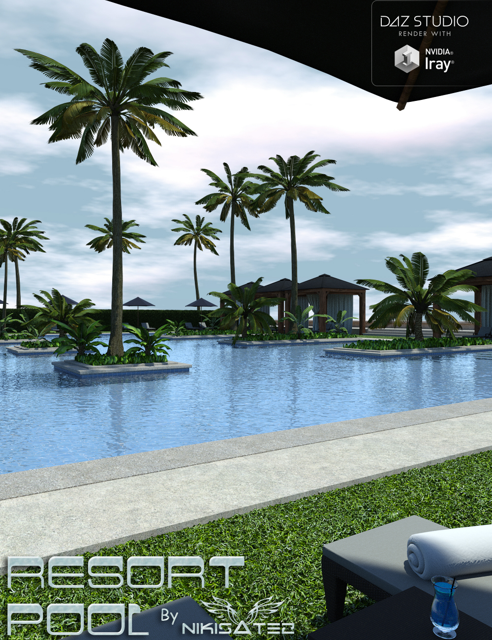 The Resort Pool by: Nikisatez, 3D Models by Daz 3D