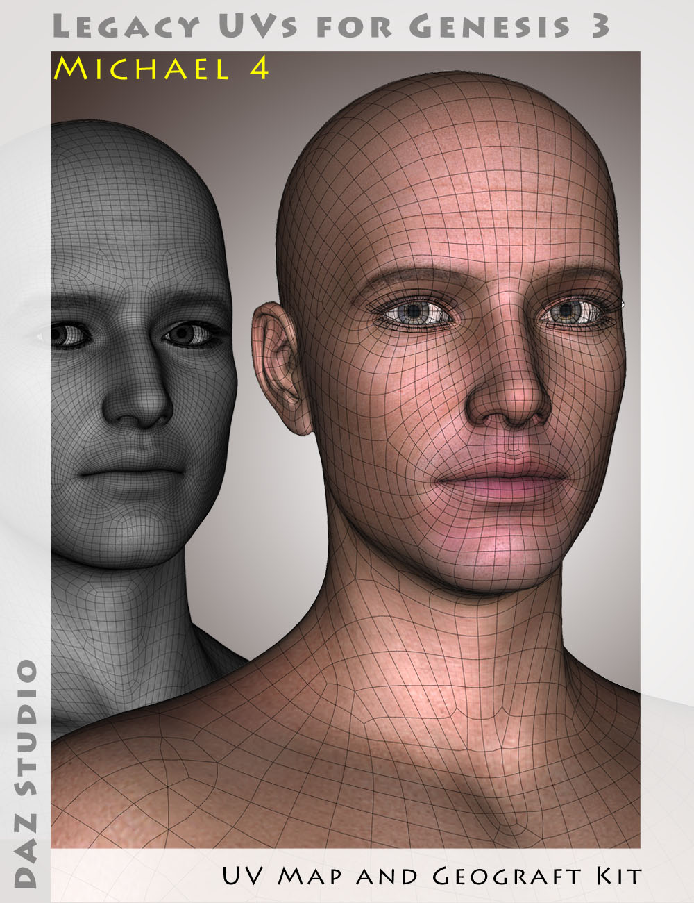 Legacy UVs for Genesis 3: Michael 4 by: Cayman Studios, 3D Models by Daz 3D