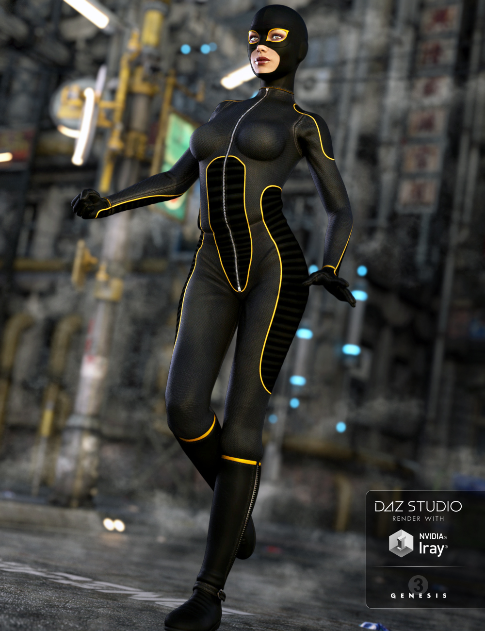 Super Bodysuit for Genesis 3 Female(s) by: ArienMada, 3D Models by Daz 3D