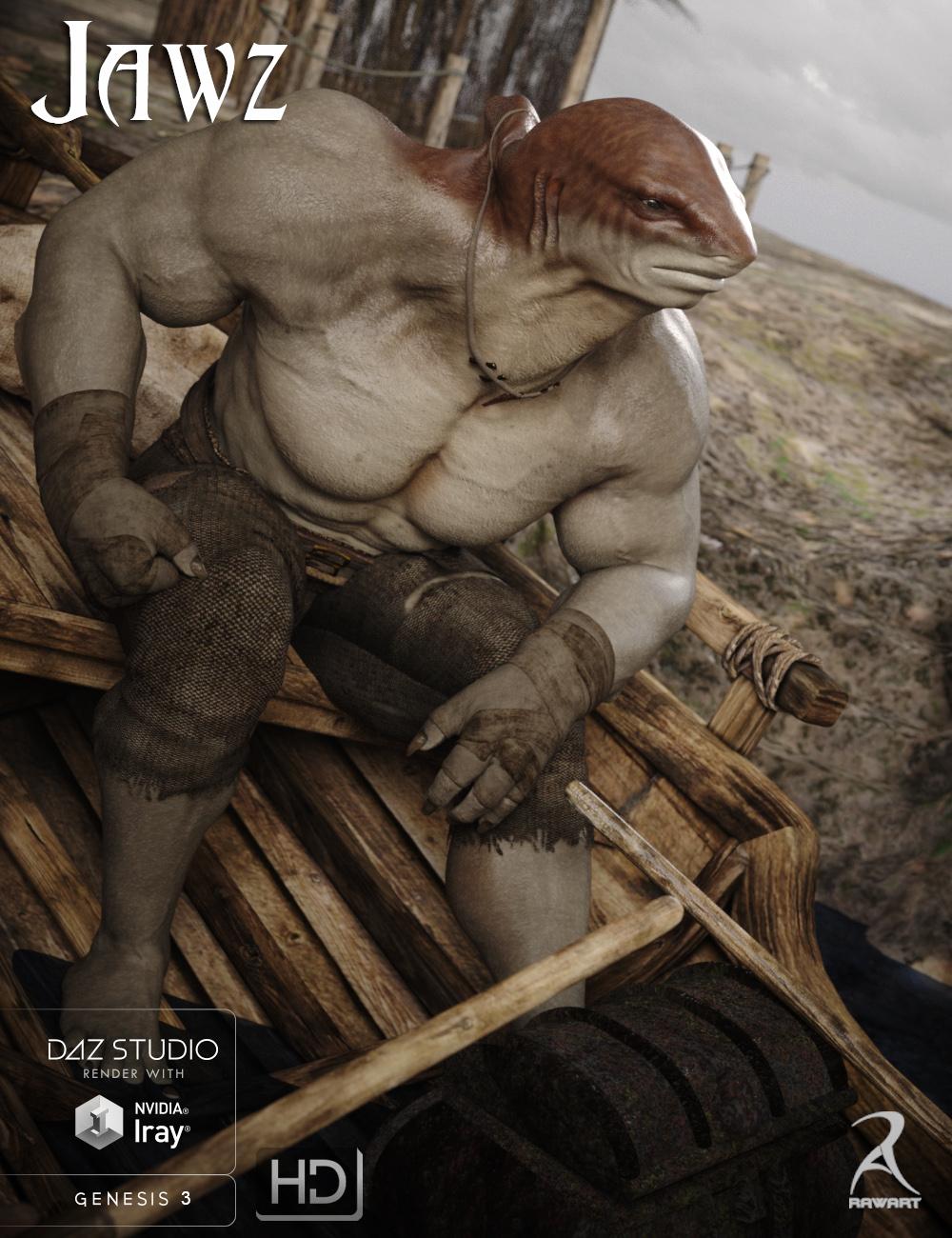 Jawz for Genesis 3 Male by: RawArt, 3D Models by Daz 3D