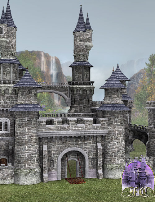 Fairytale Collection -- Fantasy Castle by: , 3D Models by Daz 3D