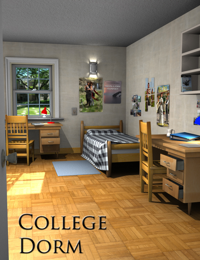 College Dorm by: FirstBastion, 3D Models by Daz 3D