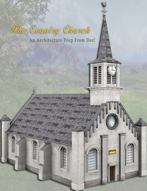 Country Church by: , 3D Models by Daz 3D