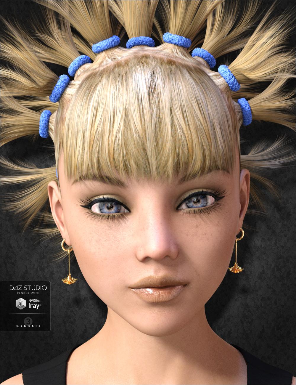 Dandelion Hair by: DarkStarBurningMindVision G.D.S., 3D Models by Daz 3D