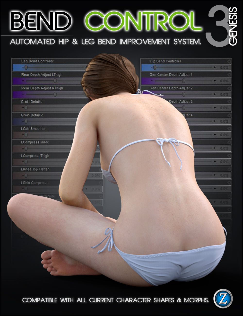 Bend Control for Genesis 3 Female(s) by: Zev0, 3D Models by Daz 3D