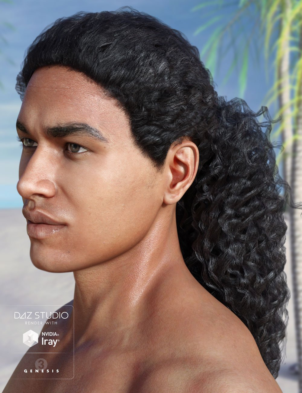 Kylan Hair for Genesis 3 Male(s) and Female(s) by: AprilYSH, 3D Models by Daz 3D