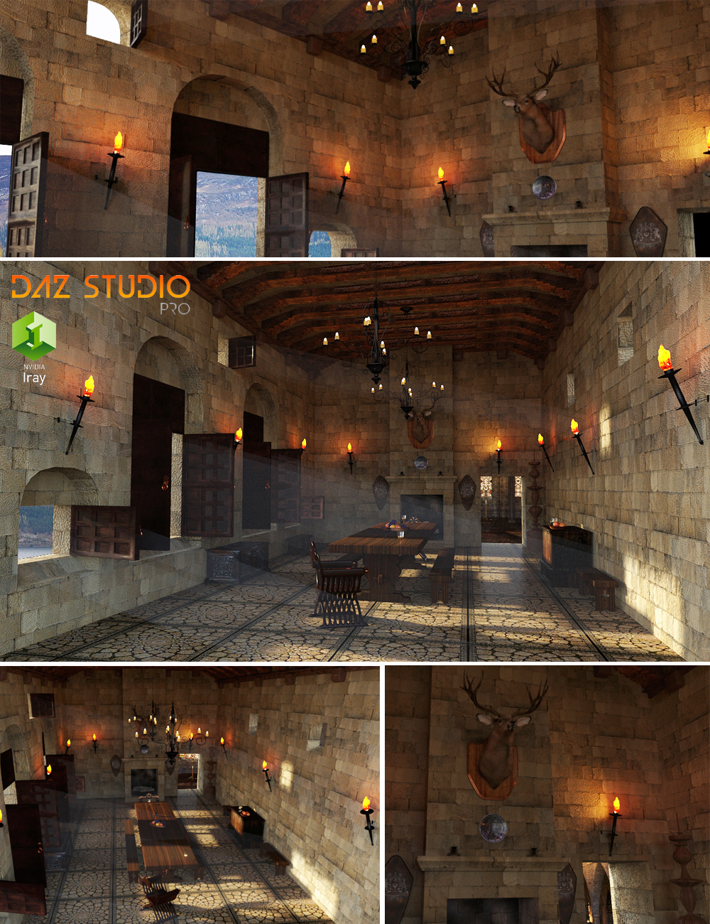 Great Hall by: PerspectX, 3D Models by Daz 3D