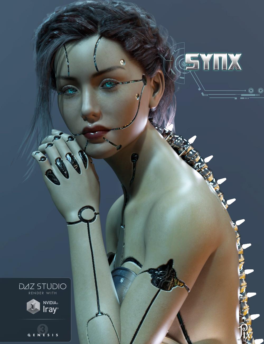 Pix - Synx for Genesis 3 Female by: PixelunaTraveler, 3D Models by Daz 3D