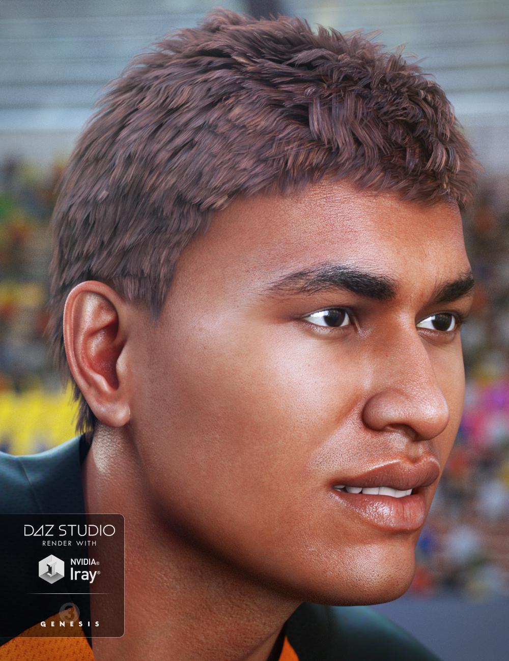 JayBird Hair for Genesis 3 Male(s) by: goldtassel, 3D Models by Daz 3D