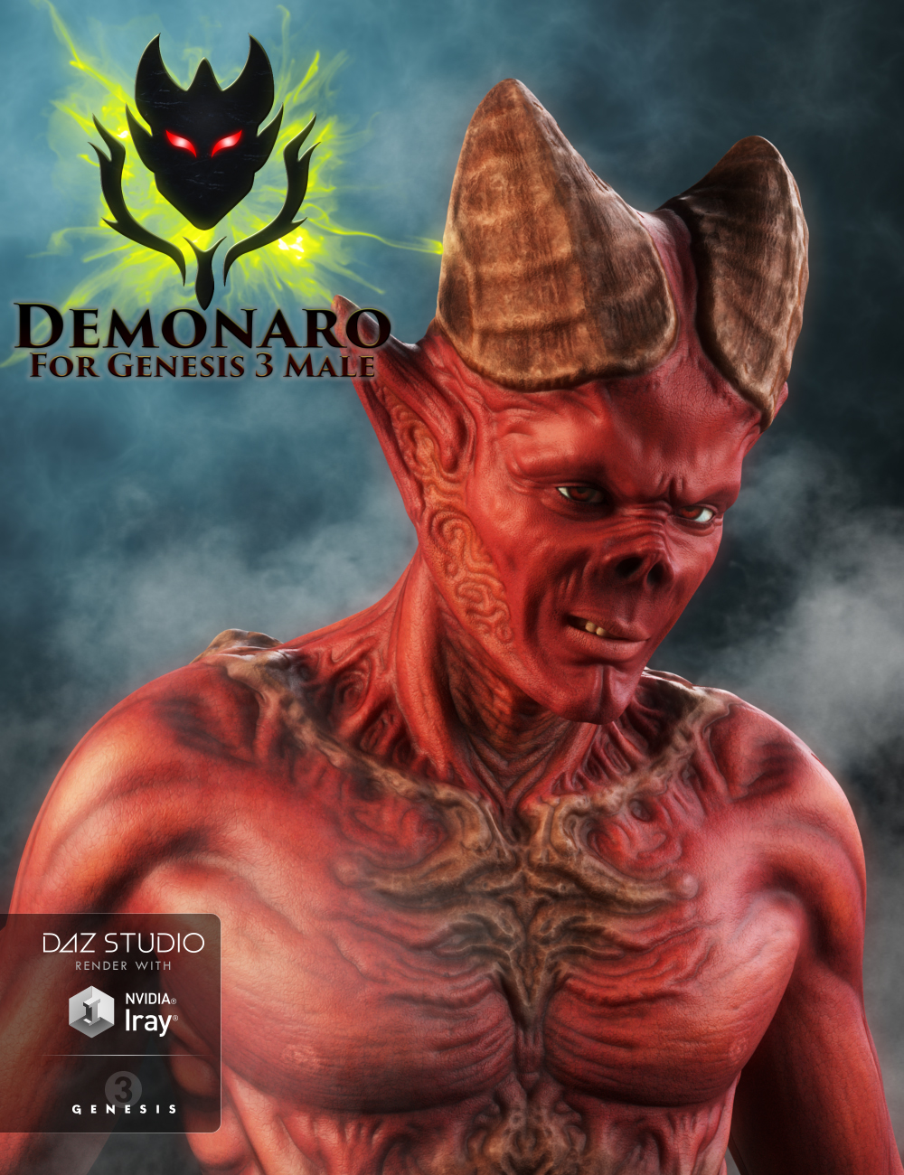 Demonaro for Genesis 3 Male by: JoLab1985, 3D Models by Daz 3D