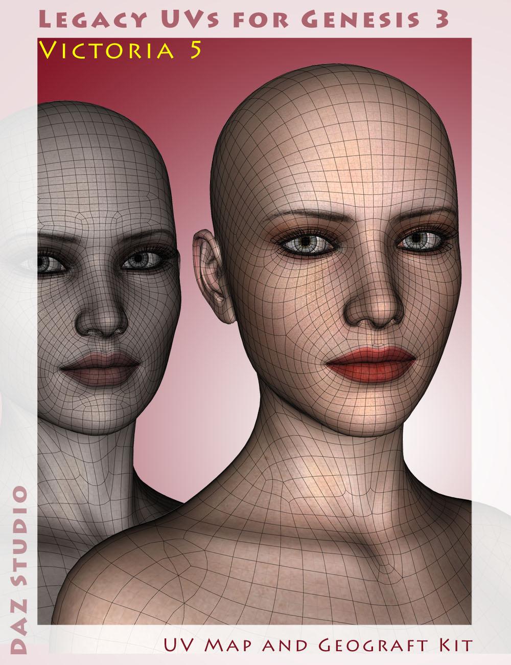 Legacy UVs for Genesis 3: Victoria 5 by: Cayman Studios, 3D Models by Daz 3D