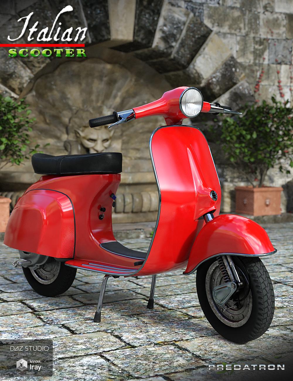 Italian Scooter by: PredatronDiane, 3D Models by Daz 3D