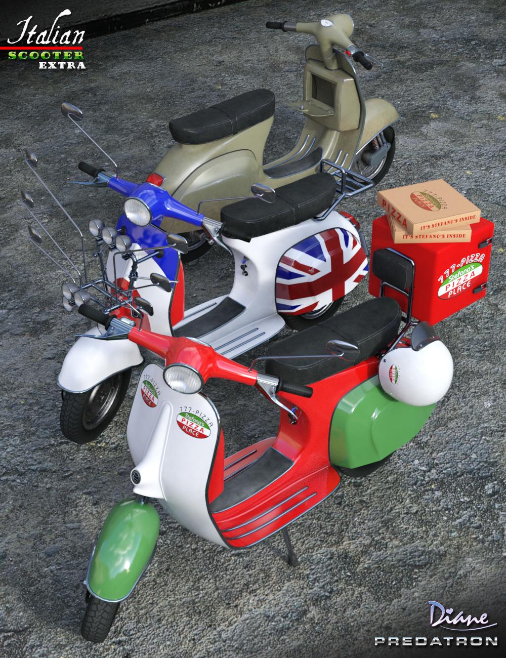 Italian Scooter Extras by: PredatronDiane, 3D Models by Daz 3D