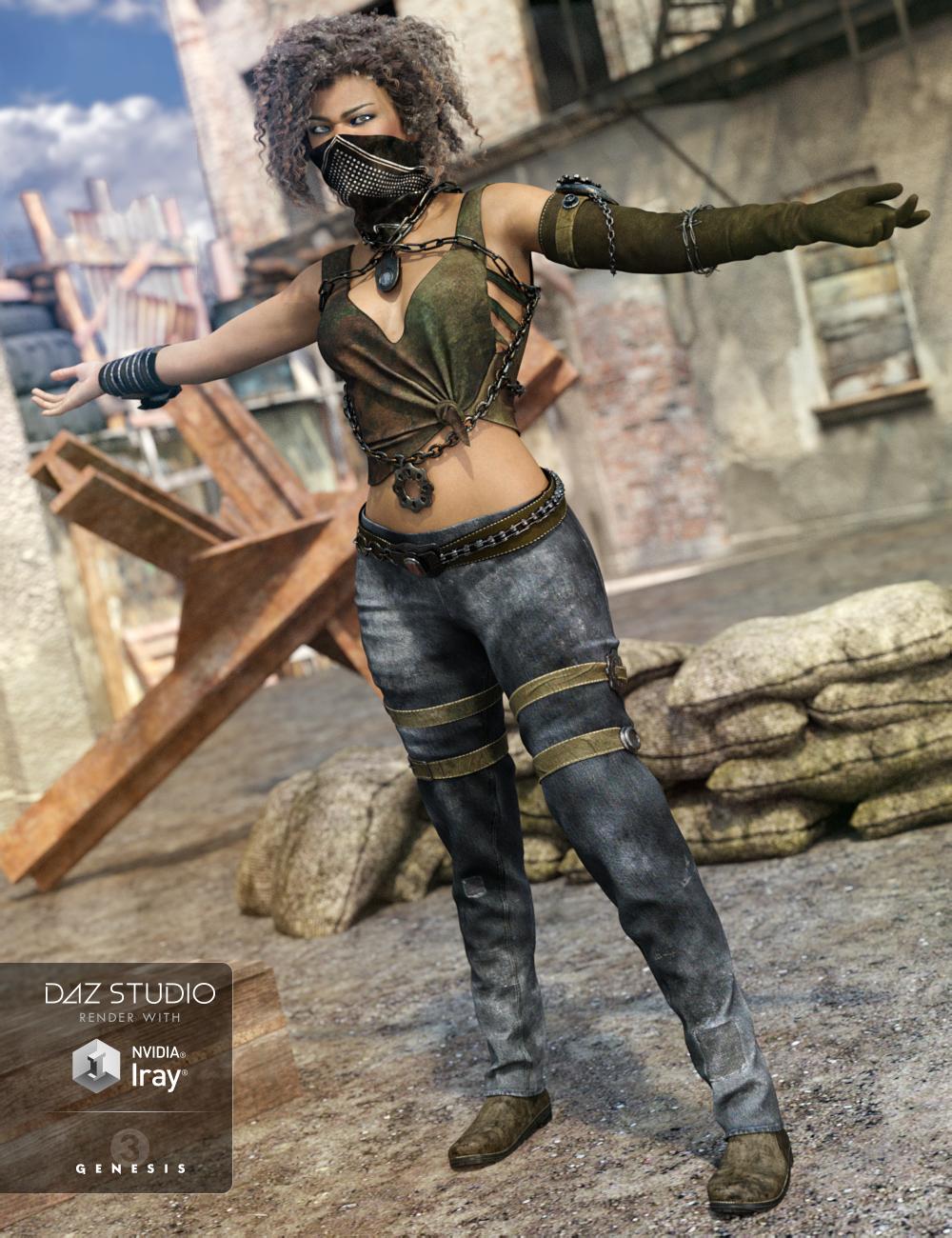 Eternal Desert Warrior Outfit for Genesis 3 Female(s) by: NikisatezAnna Benjamin, 3D Models by Daz 3D