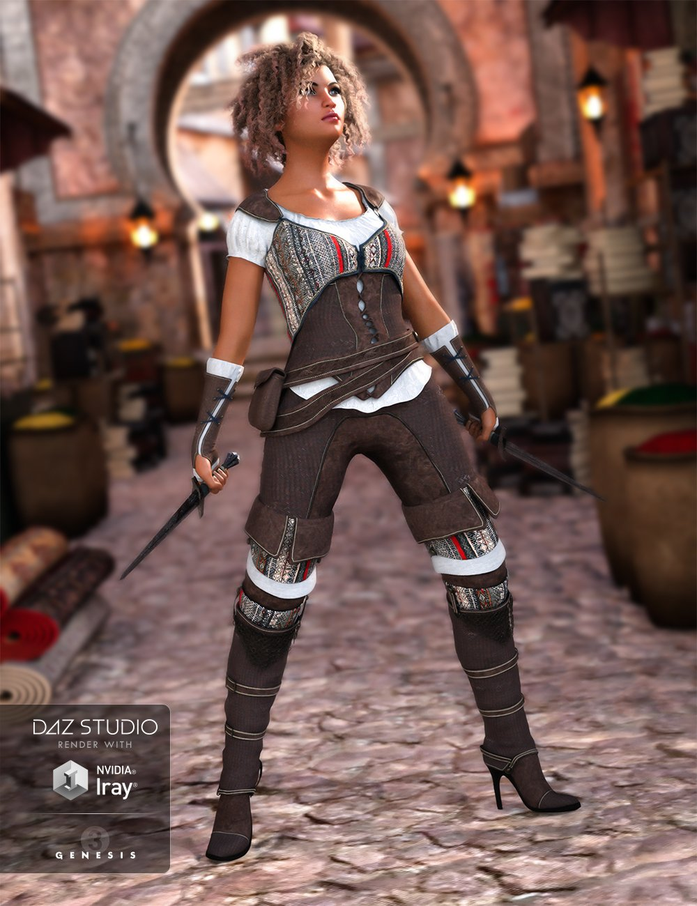 Shameless Rogue Outfit for Genesis 3 Female(s) by: Barbara BrundonSarsa, 3D Models by Daz 3D