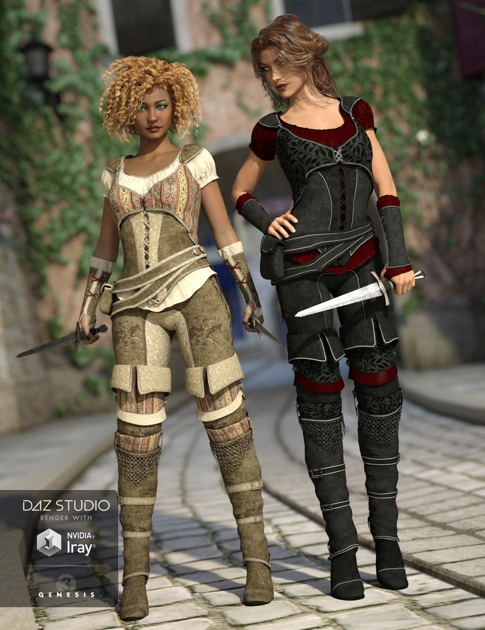 Shameless Rogue Outfit Textures by: Sarsa, 3D Models by Daz 3D