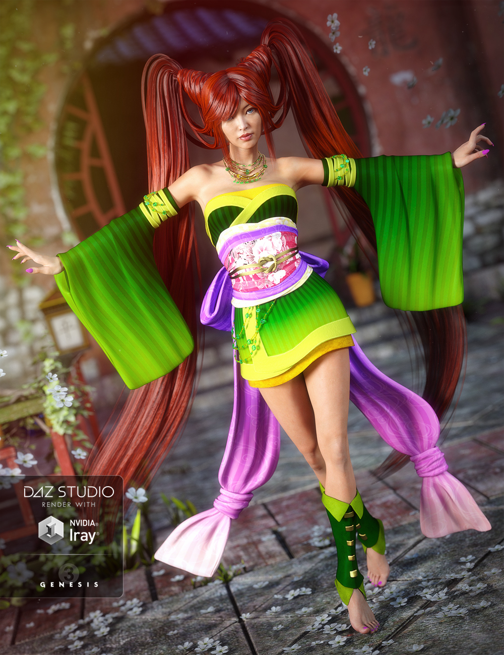 Jade Tiger for Genesis 3 Female(s) by: Lady LittlefoxCake OneTraveler, 3D Models by Daz 3D
