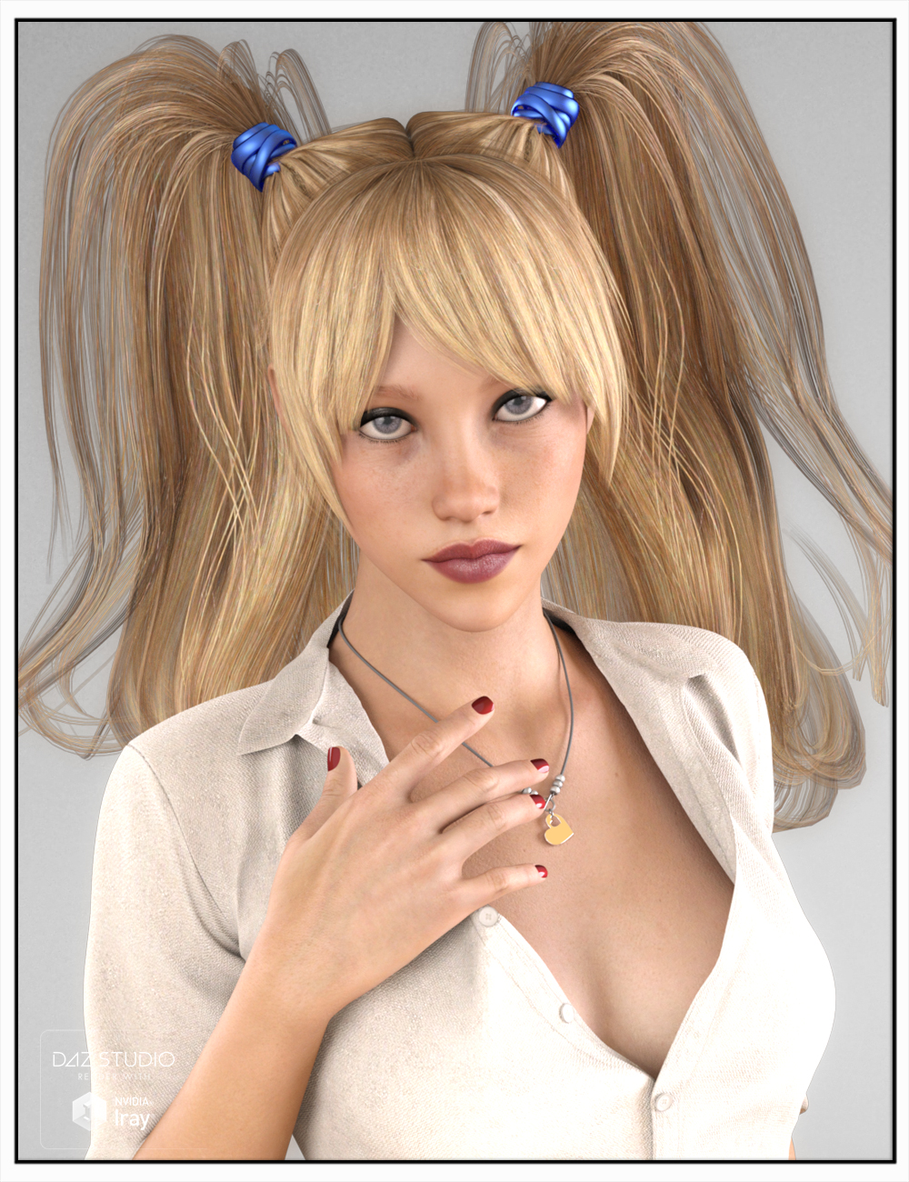 Jerry Hair for Genesis 3 Female(s) by: SWAM, 3D Models by Daz 3D