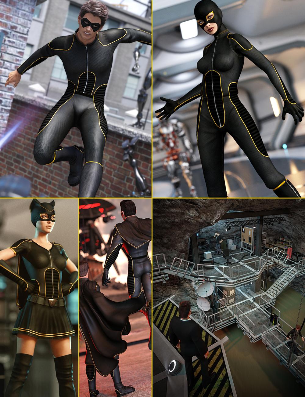 Genesis 3 Superhero Bundle by: , 3D Models by Daz 3D