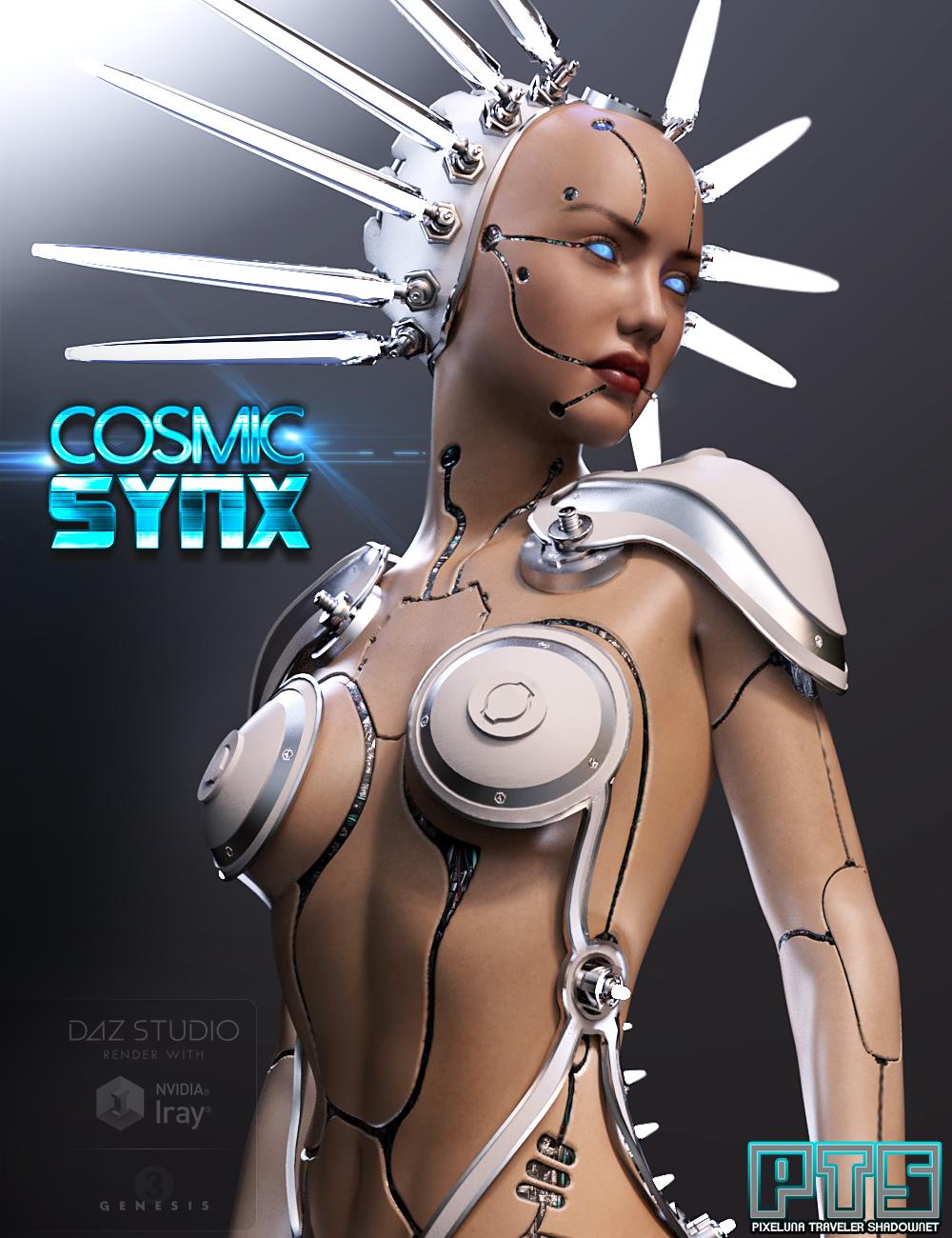 Cosmic Synx Outfit for Genesis 3 Female(s) by: PixelunaTravelershadownet, 3D Models by Daz 3D
