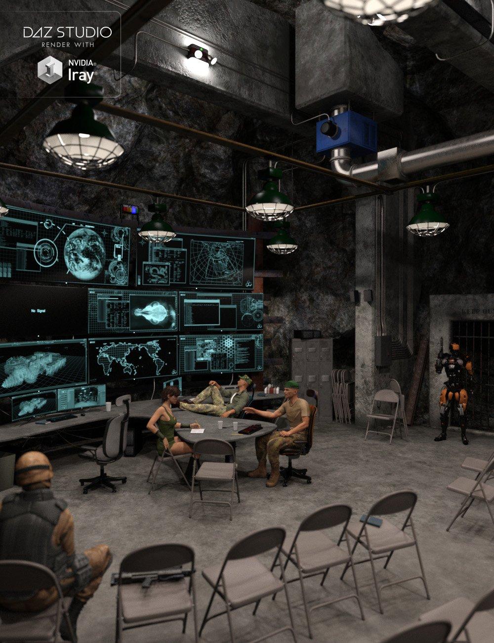 Deep Underground Command Center by: Dumor3D, 3D Models by Daz 3D