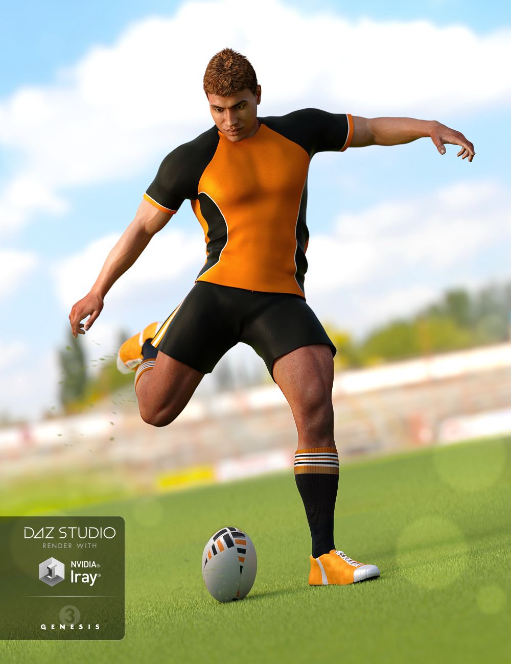 Rugby Uniform for Genesis 3 Male(s) by: NikisatezOziChick, 3D Models by Daz 3D