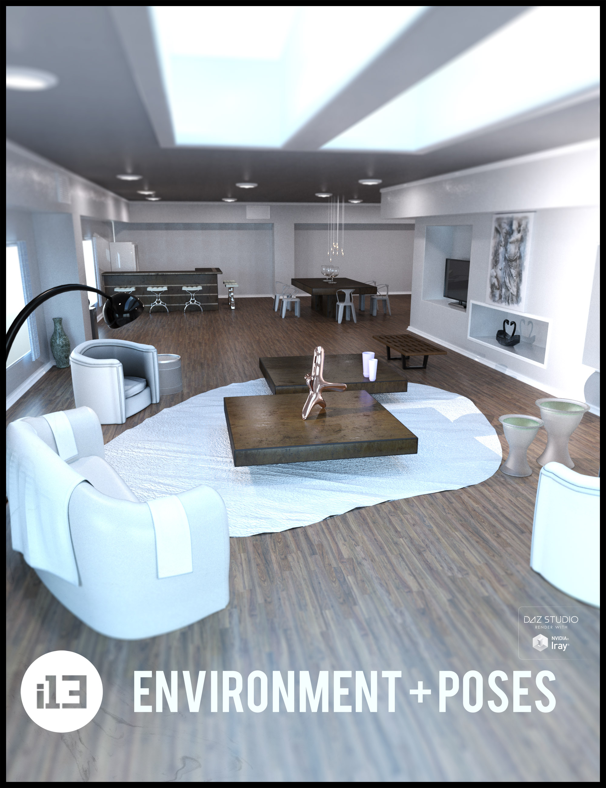 i13 NEW Addition Living Environment with Poses by: ironman13, 3D Models by Daz 3D