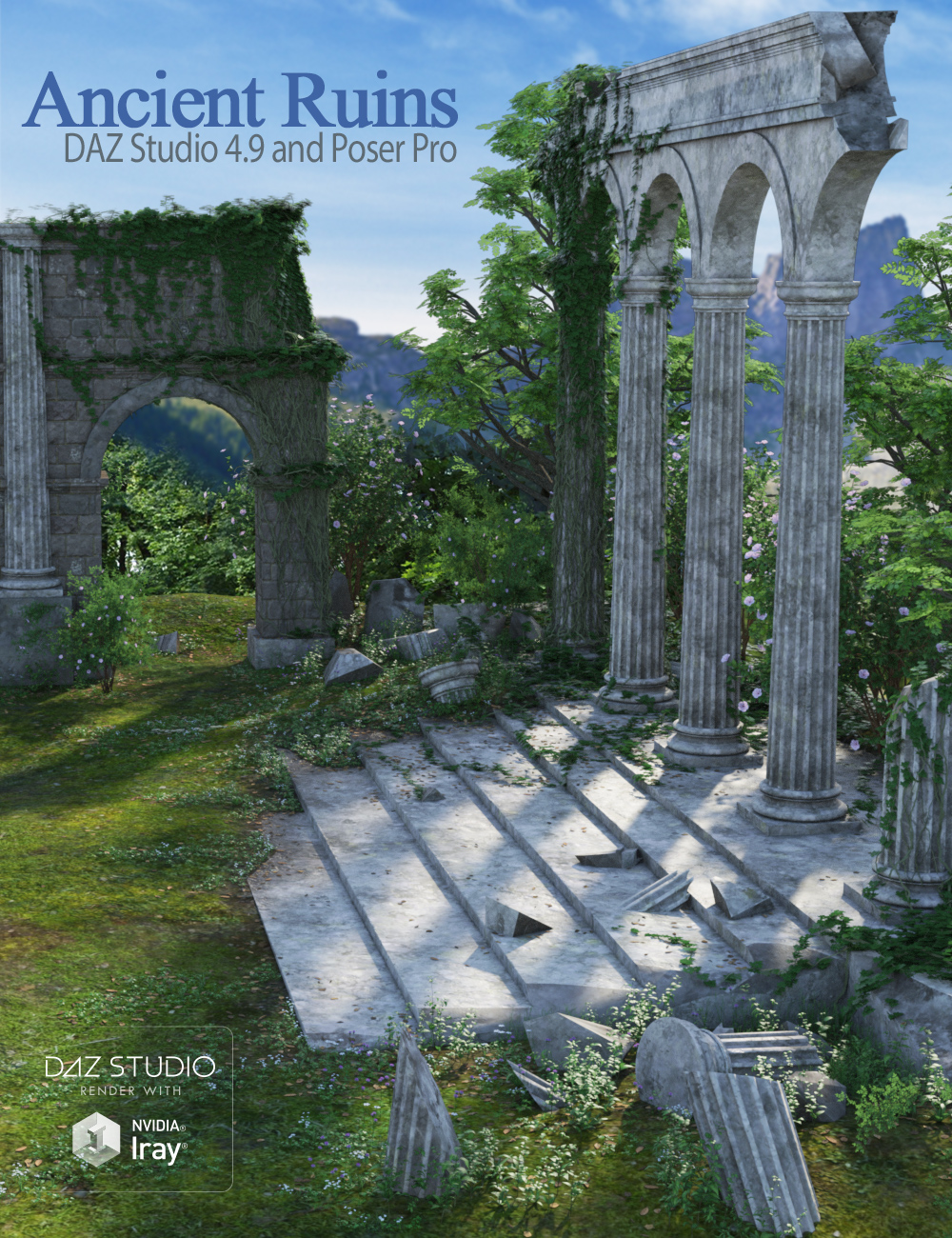 Ancient Ruins by: Andrey PestryakovPeanterra, 3D Models by Daz 3D