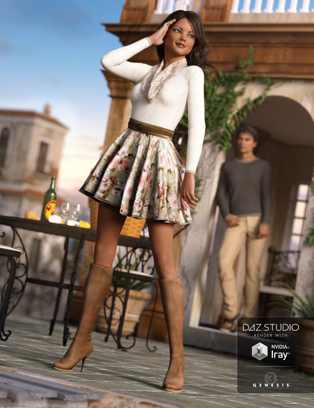 First Date Outfit for Genesis 3 Female(s) by: NikisatezSarsa, 3D Models by Daz 3D