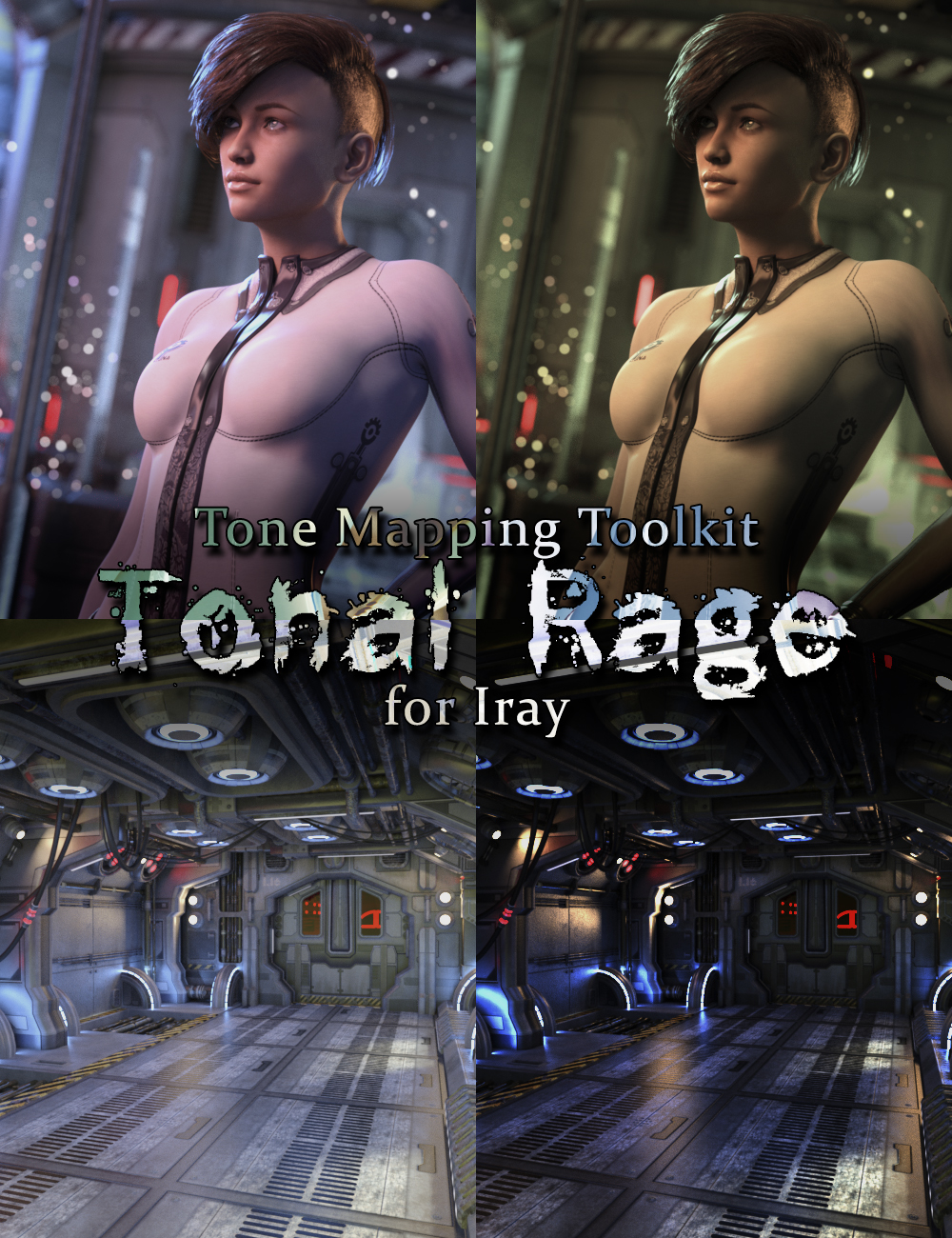 Tonal Rage - Tone Mapping Toolkit for Iray by: DimensionTheory, 3D Models by Daz 3D