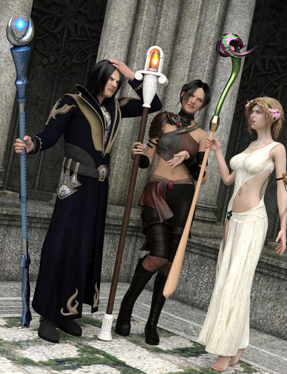 Staffs of Destiny by: Valandar, 3D Models by Daz 3D