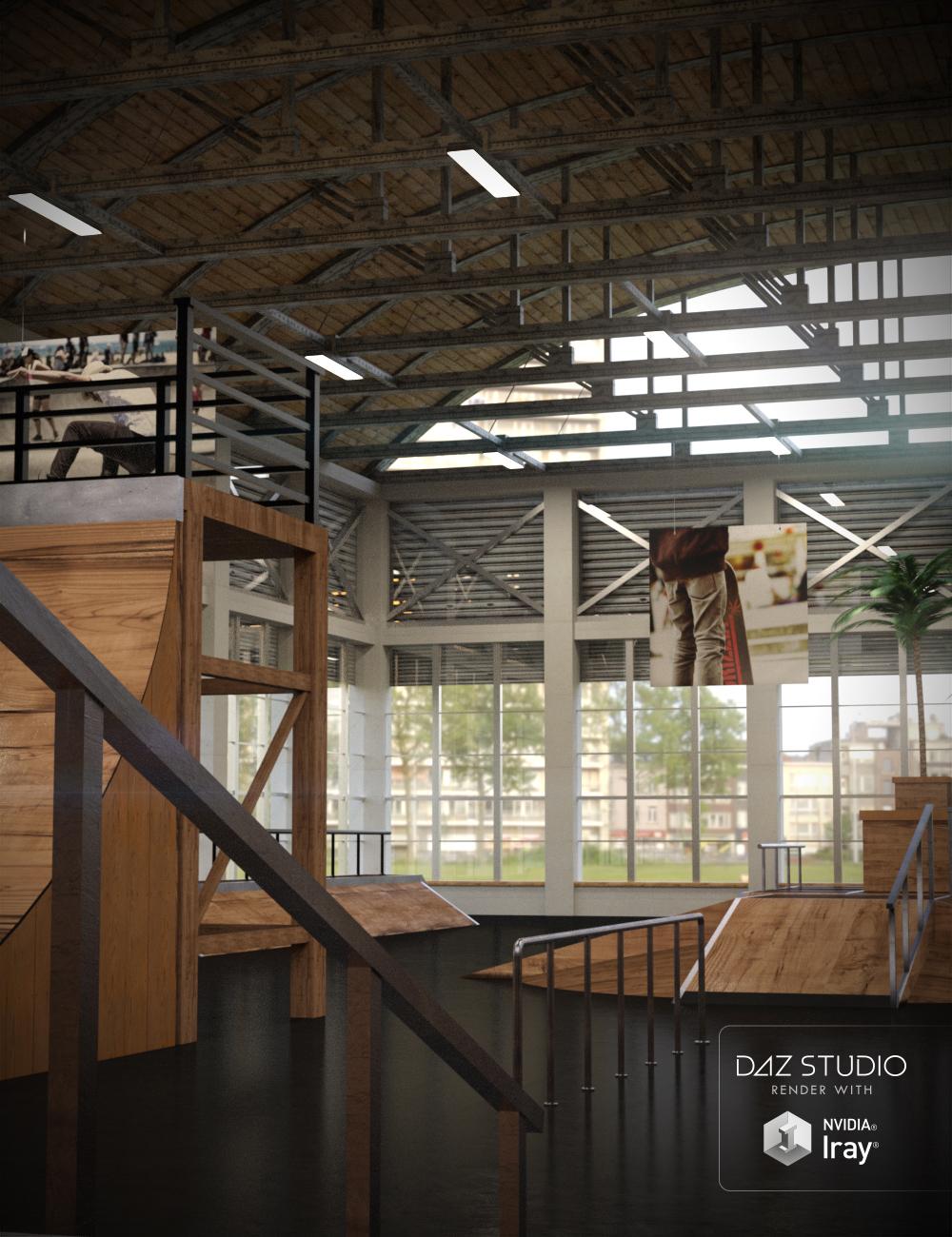 Indoor Skate Park by: KindredArts, 3D Models by Daz 3D