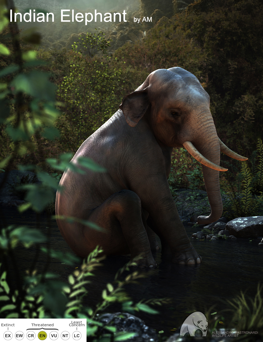 Indian Elephant by AM by: Alessandro_AM, 3D Models by Daz 3D