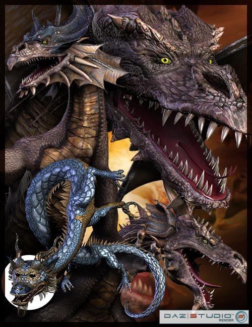Millennium Dragon 2.0 by: , 3D Models by Daz 3D