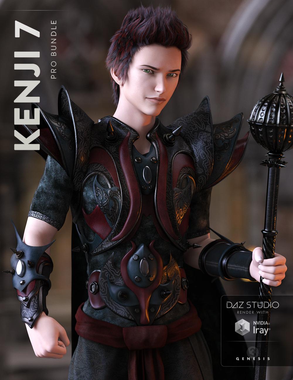 Kenji 7 Pro Bundle by: , 3D Models by Daz 3D