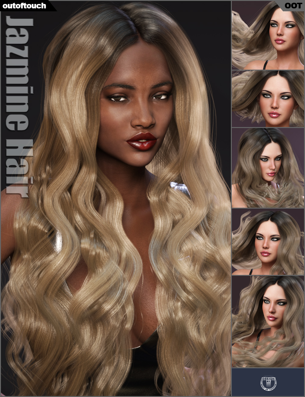 Jazmine Hair by: outoftouch, 3D Models by Daz 3D