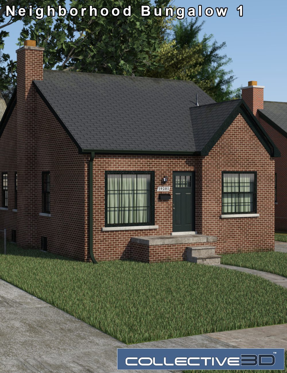 Collective3d Neighborhood Bungalow 1 by: Collective3d, 3D Models by Daz 3D
