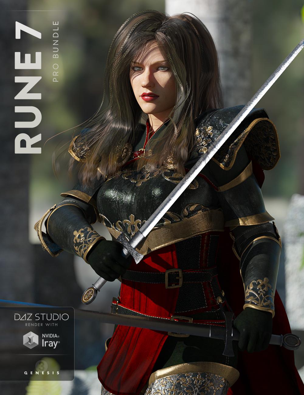 Rune 7 Pro Bundle by: , 3D Models by Daz 3D
