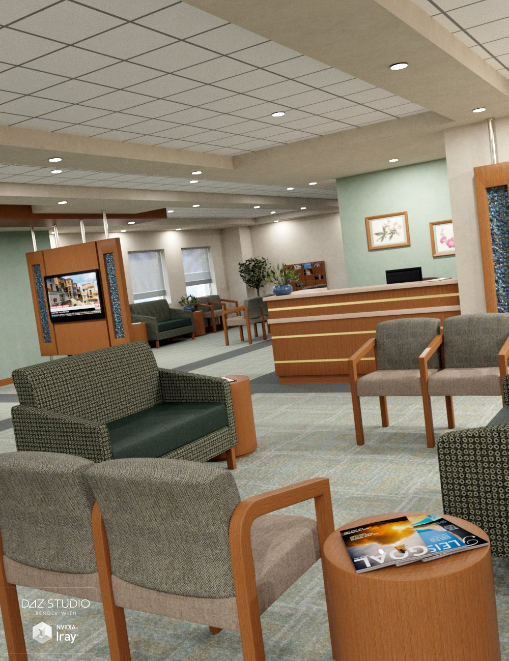 Medical Center Waiting Room by: SloshWerks, 3D Models by Daz 3D