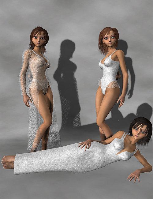 Aiko 3 Teddy Set by: LesthatVal3dart, 3D Models by Daz 3D
