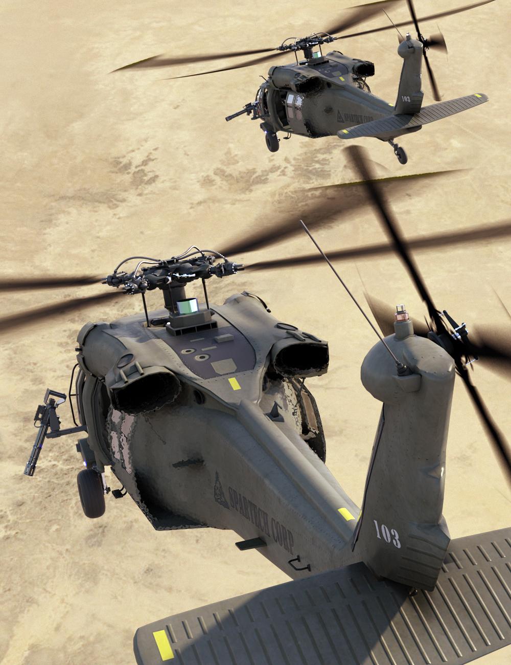 DarkHawk Helicopter by: DarkEdgeDesign, 3D Models by Daz 3D