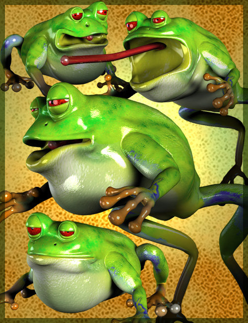 Toonimal Frog by: , 3D Models by Daz 3D