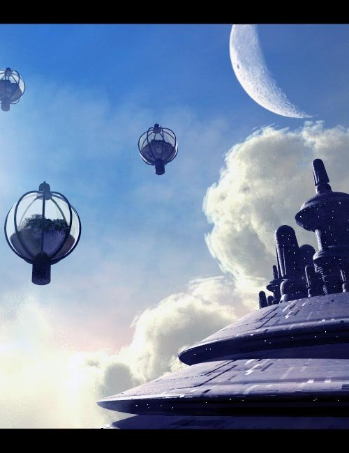 Bryce Masters Series: Cloud City by: , 3D Models by Daz 3D