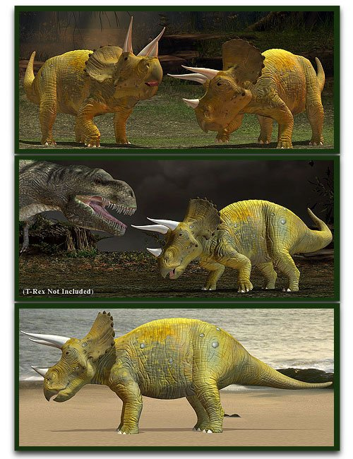Triceratops by: , 3D Models by Daz 3D