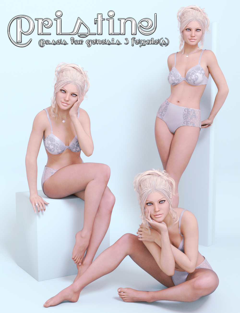 Pristine for Genesis 3 Female(s) by: lunchlady, 3D Models by Daz 3D