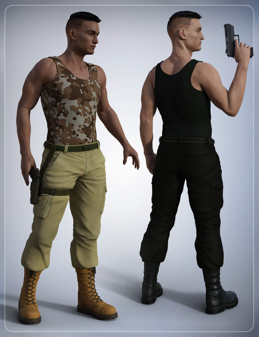 Tactical Pants for Genesis 3 Male(s) by: smay, 3D Models by Daz 3D