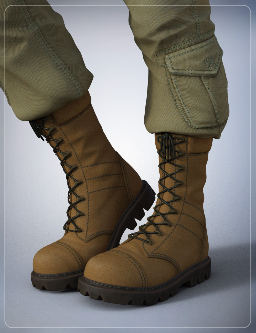 Tactical Boots for Genesis 3 Male(s) by: smay, 3D Models by Daz 3D