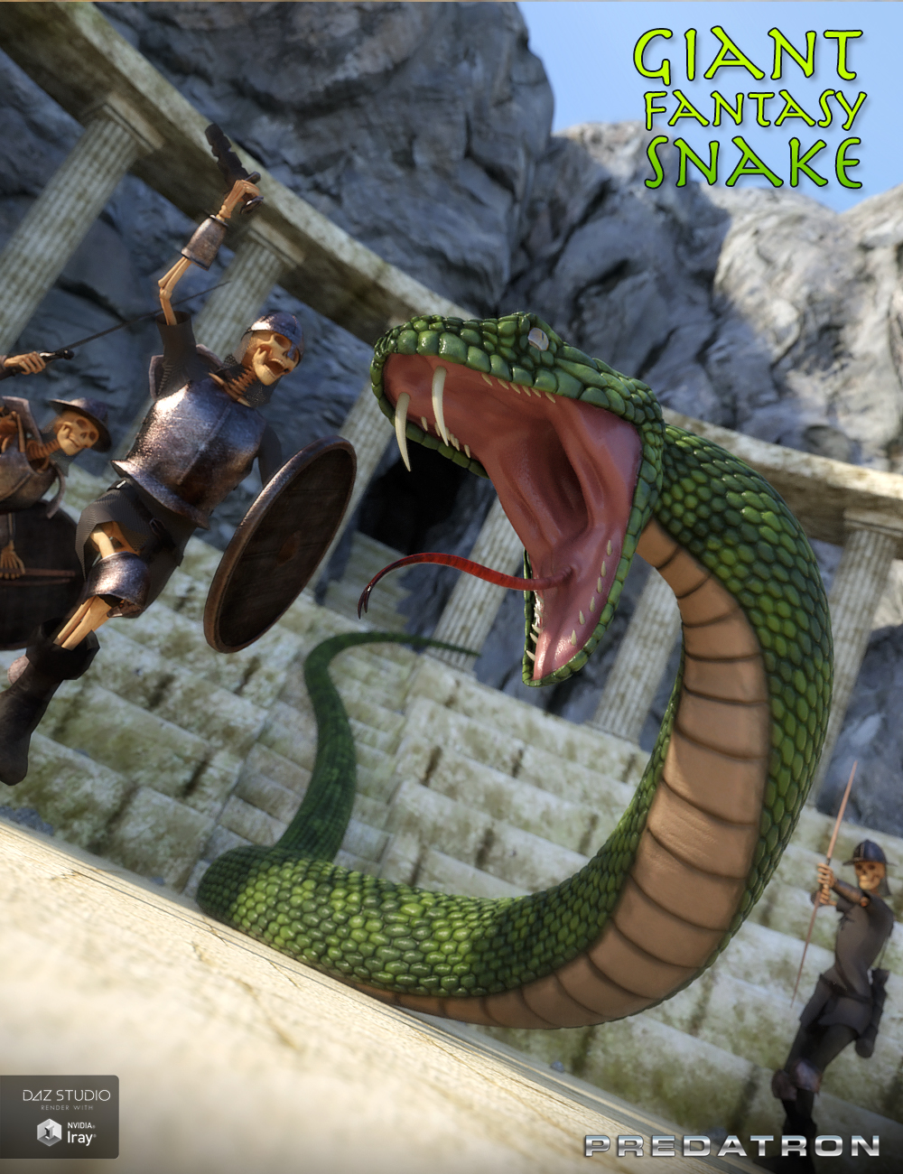 Giant Fantasy Snake by: Predatron, 3D Models by Daz 3D