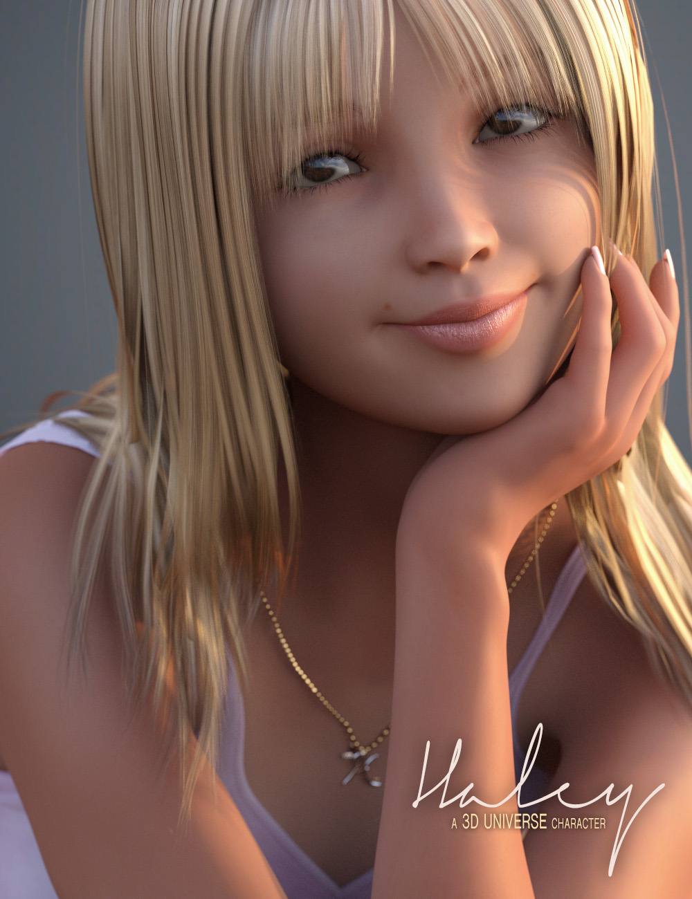 Haley for Genesis 3 Female(s) Character & Hair by: 3D Universe, 3D Models by Daz 3D