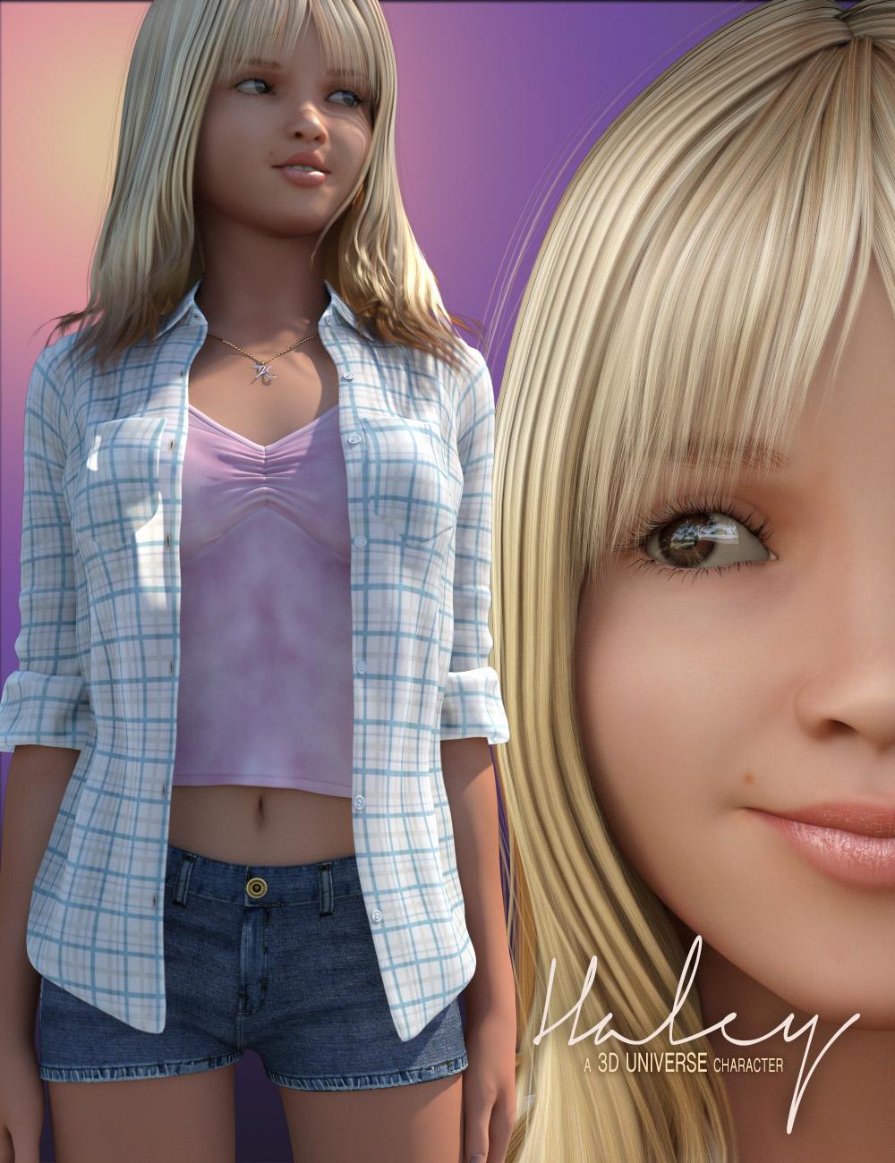 Haley for Genesis 3 Female(s) Bundle by: 3D Universe, 3D Models by Daz 3D
